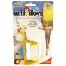 Insight Activitoys Rotating Mirror Drum Bird Toy