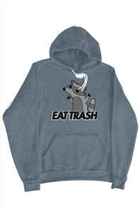 EAT TRASH Raccoon Hoodie (Slate Blue)