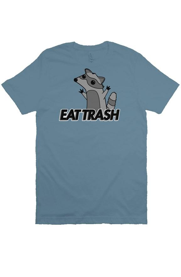 EAT TRASH Raccoon Shirt (Steel Blue)