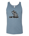 EAT TRASH Raccoon Bro Tank (Heather Slate Blue)