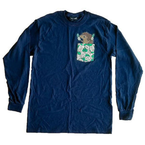Hedgie Pineapple Long Sleeve Shirt (Navy)