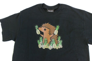Hedgie Pineapple Shirt Black - Squeakii