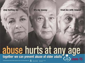 Abuse Hurts At Any Age Poster
