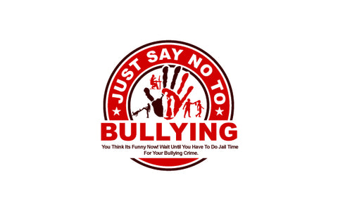 Hoodies And Sweatshirts-Just Say No To Bullying Red Logo on Gray Hoodie or Sweatshirt