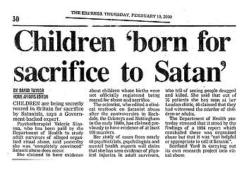Article about children being sacrificed