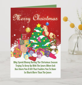 Christmas Card-Trying To Keep Up With The Jones You'll Cherish Love Christmas Card