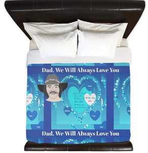 Duvet Cover-Dad, We Love You Duvet You'll Cherish Love Cover