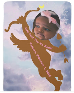 Baby Blanket-God Has Sent You An Angel-Pampered Princess Girl You'll Cherish Love Baby Blanket - Voiceopin International: Child Abuse Information & Online Shopping Center