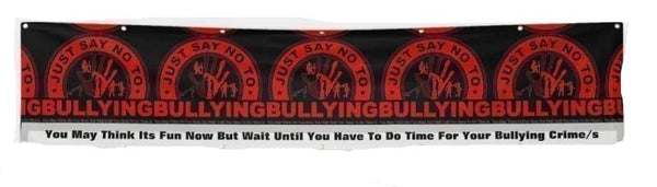 Banner-Just Say No To Bullying You'll Cherish Love Banner-Horizontal Vinyl - Voiceopin International: Child Abuse Information & Online Shopping Center