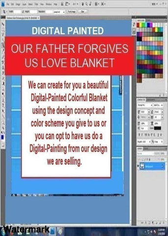 Blanket and Throw Digitally Painted- Our Father Forgives Us You'll Cherish Love Blanket And Throw - Voiceopin International: Child Abuse Information & Online Shopping Center