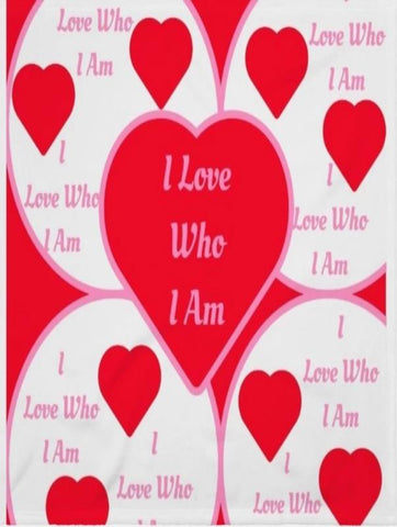Blanket And Throw I Love Who I Am You'll Cherish Love Blanket And Throw - Voiceopin International: Child Abuse Information & Online Shopping Center