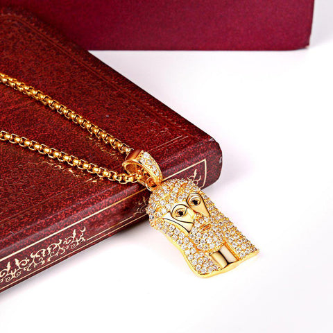 Classic Diamond Created Iced Out Jesus Necklace - Voiceopin International: Child Abuse Information & Online Shopping Center