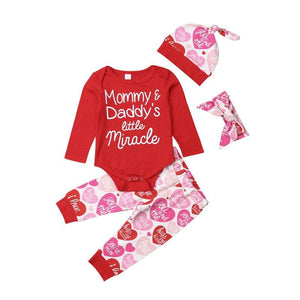 Cute Kids Baby Girl Valentine's Day Sets Cotton - Voiceopin International: Child Abuse Information & Online Shopping Center