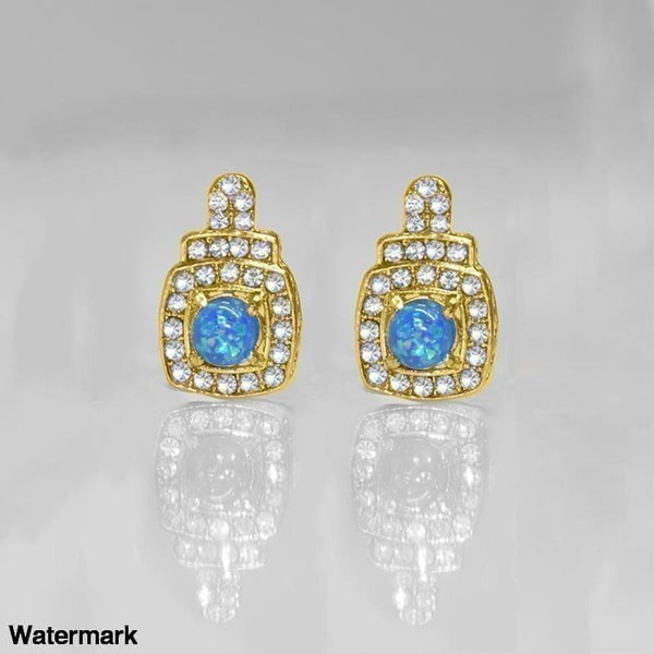 Double Halo Oceanic Opal Designer Stud Earrings - Voiceopin International: Child Abuse Information & Online Shopping Center