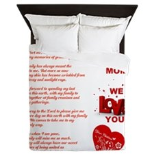 Duvet Cover-Mom, We Love You Duvet You'll Cherish Love Cover - Voiceopin International: Child Abuse Information & Online Shopping Center