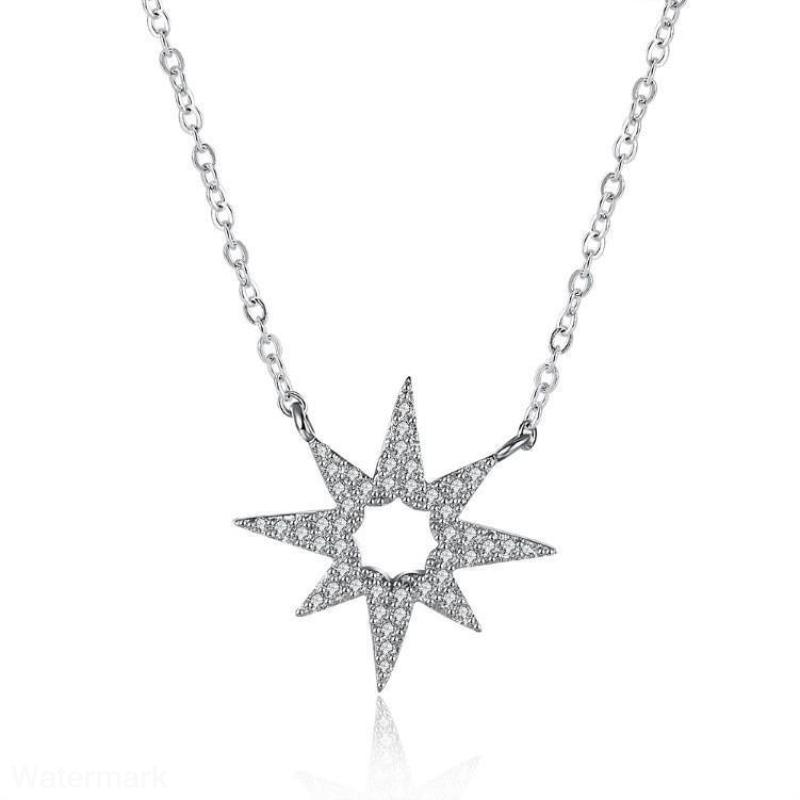 Eight Pointed Star Swarovski Designer Necklace - Voiceopin International: Child Abuse Information & Online Shopping Center
