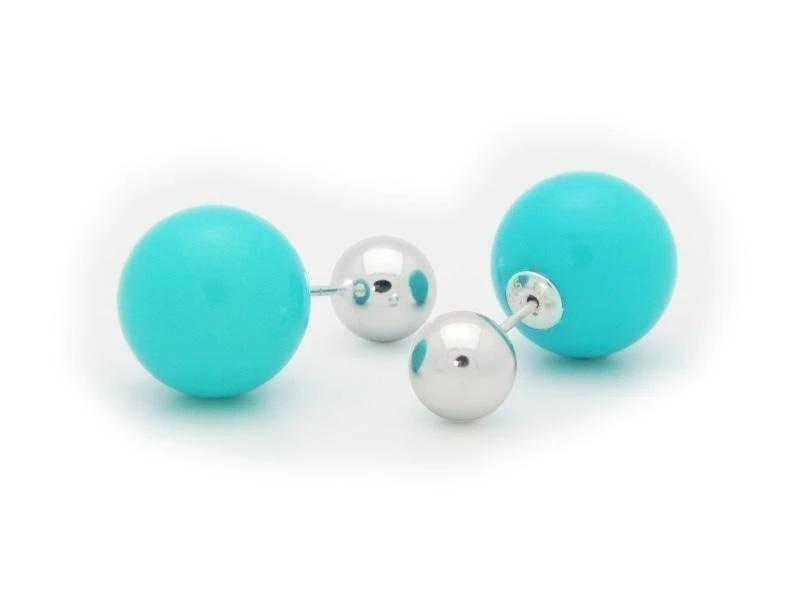 Faux Pearl Double Sided Earrings - Voiceopin International: Child Abuse Information & Online Shopping Center