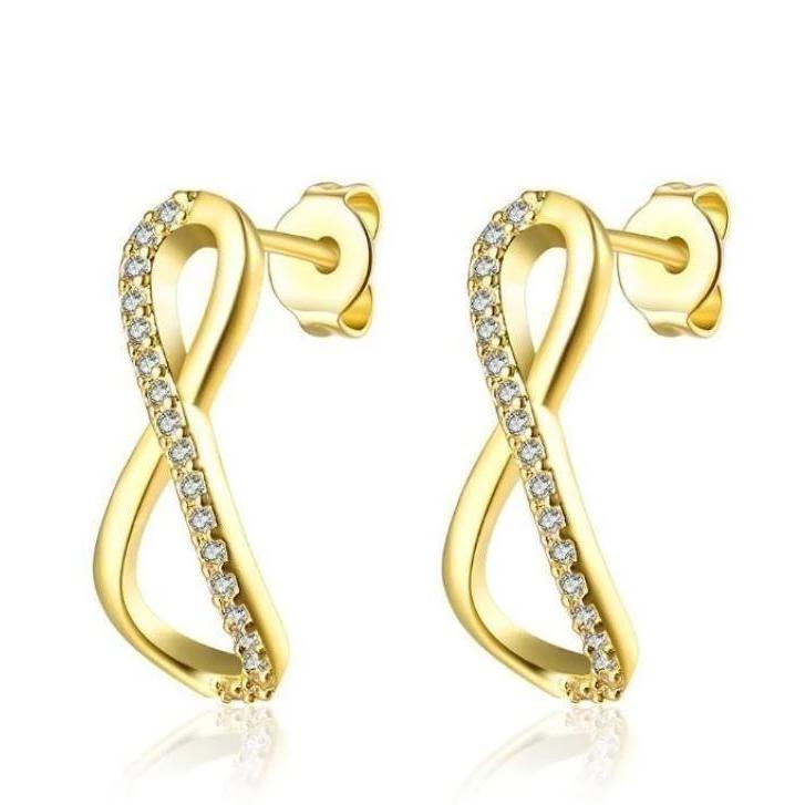 Golden NYC Huggies Designer Earring-Classic Pave - Voiceopin International: Child Abuse Information & Online Shopping Center