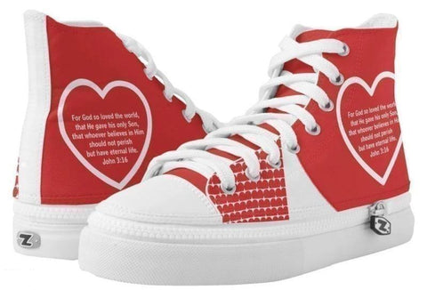 High Top Sneaker-God Loves You High Top Sneaker - Voiceopin International: Child Abuse Information & Online Shopping Center