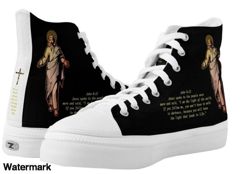 High Top Sneaker-Thank You God For Walking With Me Love Hot Top Sneaker - Voiceopin International: Child Abuse Information & Online Shopping Center
