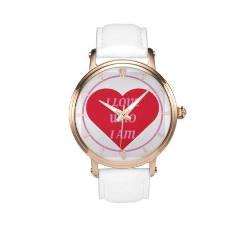 I Love Who I Am Genuine Leather Strap Water-resistant Automatic Watch (Rose Gold) Adult - Voiceopin International: Child Abuse Information & Online Shopping Center