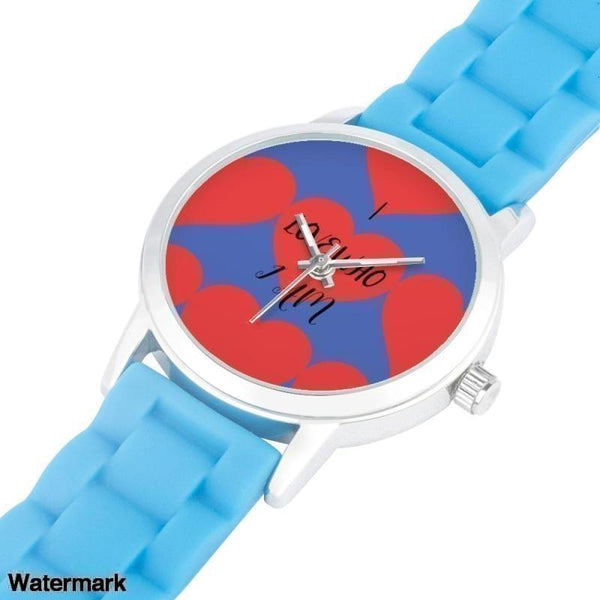 I Love Who I Am Silica Gel Strap Water Resistant Quartz Youth Watch-Blue - Voiceopin International: Child Abuse Information & Online Shopping Center