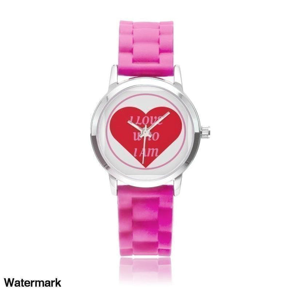 I Love Who I Am Silica Gel Strap Water Resistant Quartz Youth Watch-Red - Voiceopin International: Child Abuse Information & Online Shopping Center