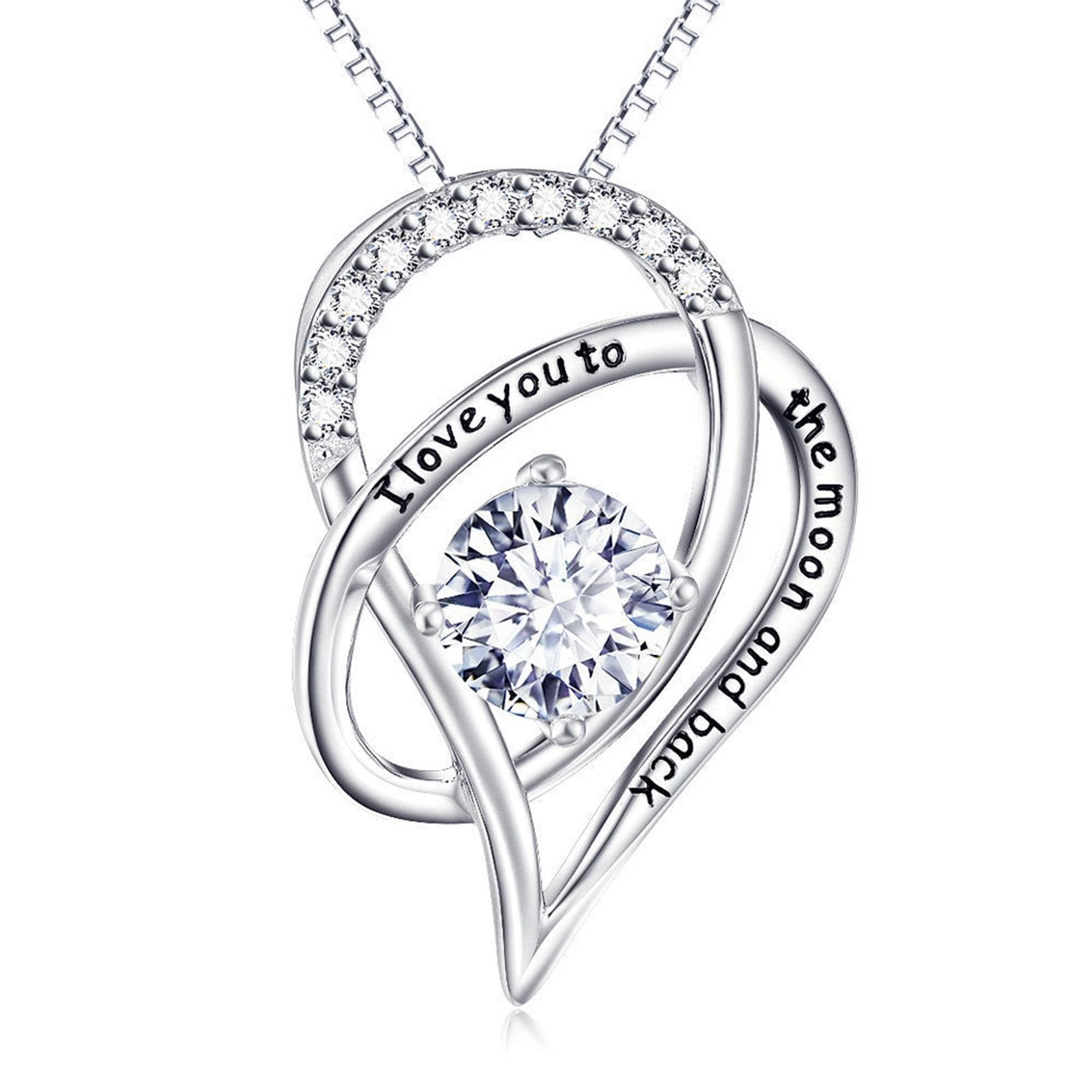 I Love You Necklace in Silver - Voiceopin International: Child Abuse Information & Online Shopping Center