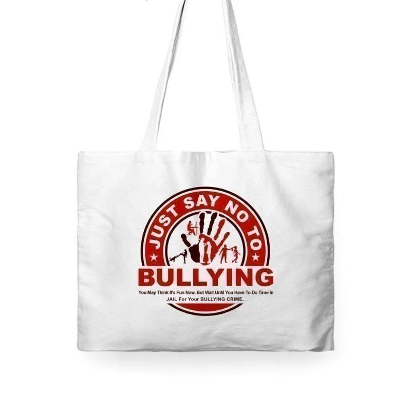 Just Say No To Bullying Tote Bag - Voiceopin International: Child Abuse Information & Online Shopping Center