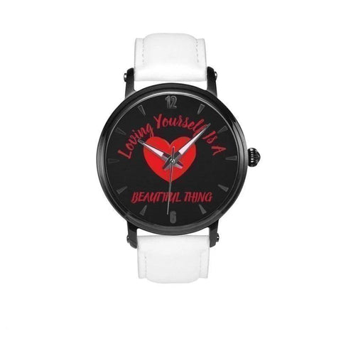 Loving Yourself Is A Beautiful Thing-Black Faced Water Resistant Quartz Watch - Voiceopin International: Child Abuse Information & Online Shopping Center