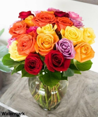 Magical Color Harmony Rose Bouquet - Voiceopin International: Child Abuse Information & Online Shopping Center