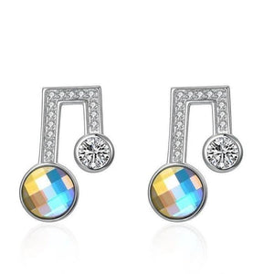 Musical Noted Swarovski Studs Designer Earrings - Voiceopin International: Child Abuse Information & Online Shopping Center