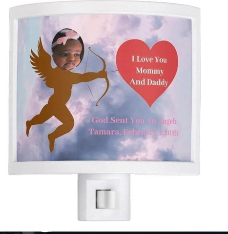 Night Light-God Has Sent You An Angel -Pampered Princess Girl or Adorable Toddler Girl You'll Cherish Love Night Light - Voiceopin International: Child Abuse Information & Online Shopping Center
