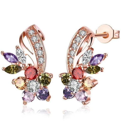 Rainbow Designer Earrings Made with Swarovski Elements - Voiceopin International: Child Abuse Information & Online Shopping Center