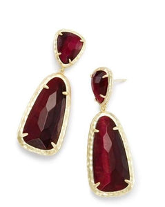 Red Stone Arizona Amber Designer Earrings - Voiceopin International: Child Abuse Information & Online Shopping Center