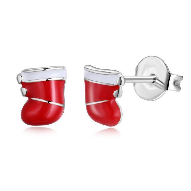 Santa Claus Boots Stud Earrings - Voiceopin International: Child Abuse Information & Online Shopping Center