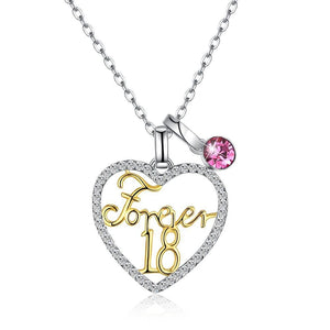 Sterling Silver Forever 18 Swarovski Crystal Necklace - Voiceopin International: Child Abuse Information & Online Shopping Center