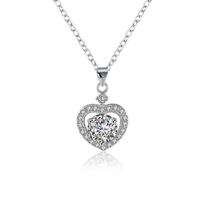 Sterling Silver Swarovski Crystals Heart Shaped Necklace - Voiceopin International: Child Abuse Information & Online Shopping Center