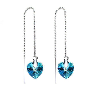 Swarovski Crystals Bermuda Blue Threader Drop Bermuda Blue Designer Earring - Voiceopin International: Child Abuse Information & Online Shopping Center