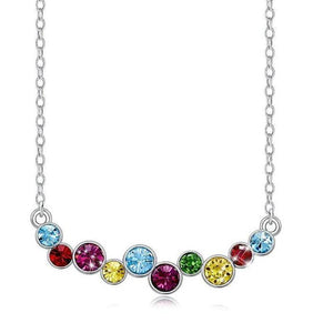 Swarovski Crystals Rainbow Designer Necklace - Voiceopin International: Child Abuse Information & Online Shopping Center