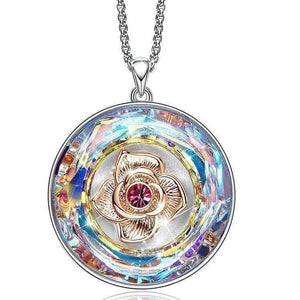 Swarovski Crystals World Rainbow Rose Designer Necklace - Voiceopin International: Child Abuse Information & Online Shopping Center