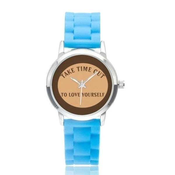 Take Time Out To Love Yourself-Brown Faced Blue / - Diameter 32Mm