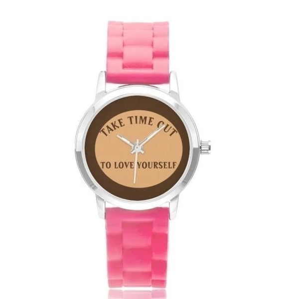 Take Time Out To Love Yourself-Brown Faced Pink / - Diameter 32Mm