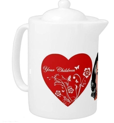 Teapot- Mom, We Love You You'll Cherish Love Teapot - Voiceopin International: Child Abuse Information & Online Shopping Center