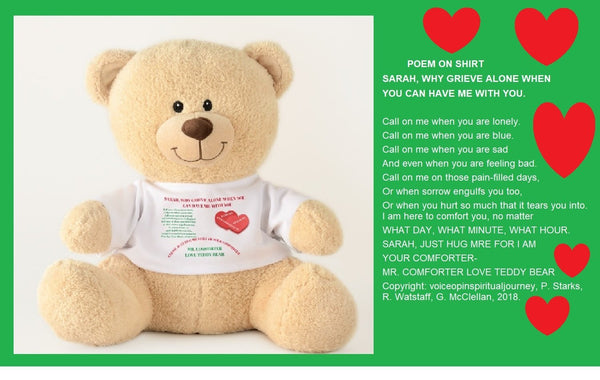Teddy Bear-Mr. Comforter Teddy Bear You'll Cherish Love (For Women or Gender Neutral) - Voiceopin International: Child Abuse Information & Online Shopping Center