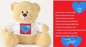 Teddy Bear-Ms. Comforter Teddy Bear You'll Cherish Love (For Men or Gender Neutral) - Voiceopin International: Child Abuse Information & Online Shopping Center
