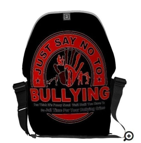 Tote Bag-Just Say No To Bullying Love Rickshaw Zero Messenger You'll Cherish Love Bag - Voiceopin International: Child Abuse Information & Online Shopping Center