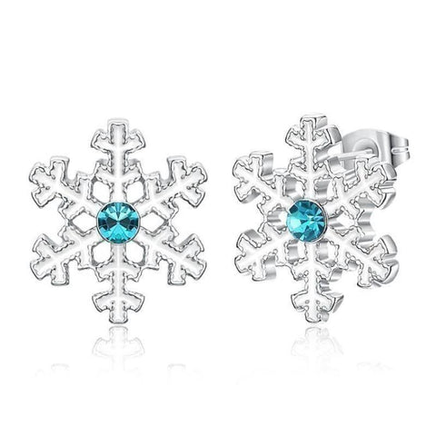 Winter Wonderland Snow Crystal Textured Designer Stud Earring - Voiceopin International: Child Abuse Information & Online Shopping Center