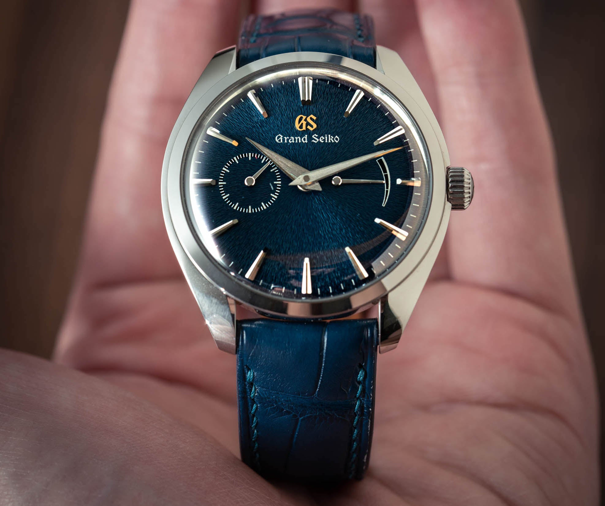 Delugs Lookbook: Grand Seiko SBGK005 Elegance Blue Iwate Dial