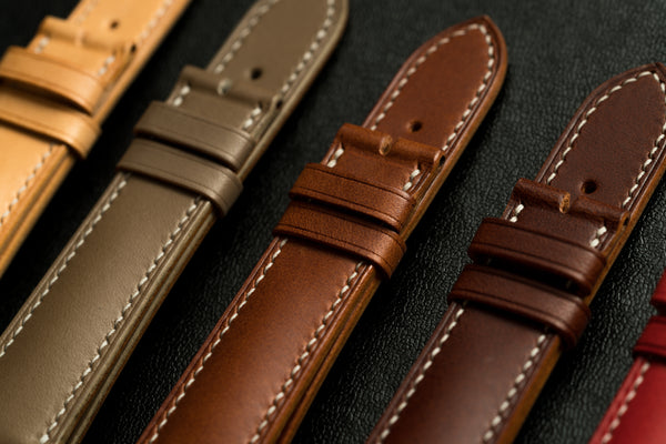 Buttero leather from Conceria Walpier tannery in Italy. Great for leather products, including watch straps.